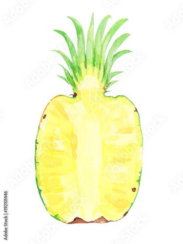 polowka-dojrzalego-ananasa-na-bialym-tle