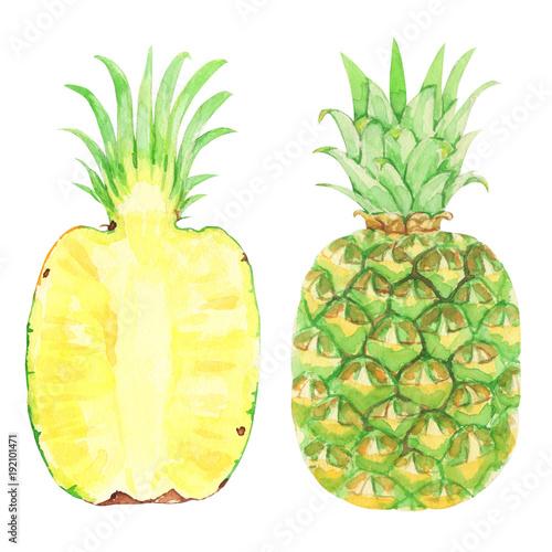 ananas-na-bialym-tle