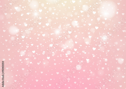 Happy Valentines Day White Hearts On A Pink Background Wedding Card Wallpaper