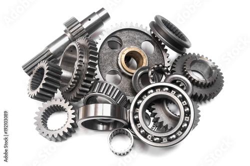 Photo  heap of gears and bearings
