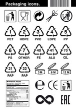 Set Of Icons For Packaging. Ve...