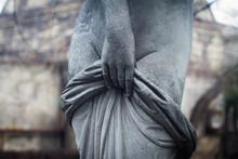 Woman Stone Statue Detail