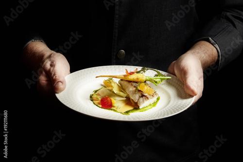 Fotografia  Pavé de maigre et légumes croquants