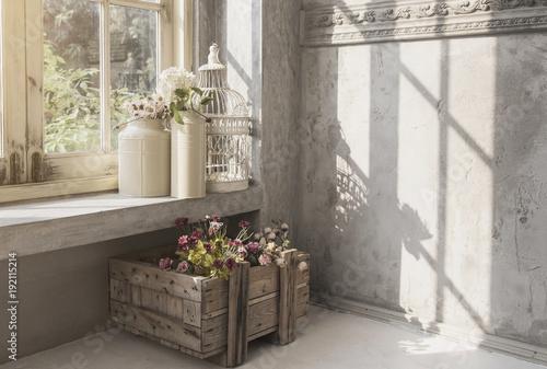 Foto op Plexiglas Retro interior indoor garden victorian vintage style