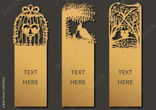 Laser cut with bird set of ornate cards template for greeting card laser cut with bird set of ornate cards template for greeting card motivation tag m4hsunfo