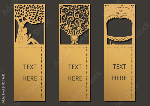 Laser cut with tree set of ornate cards template for greeting card laser cut with tree set of ornate cards template for greeting card motivation tag m4hsunfo