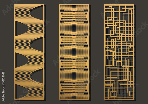 laser cut template panels set  die cut geometric pattern