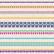 abstract minimalistic seamless pattern in tribal style