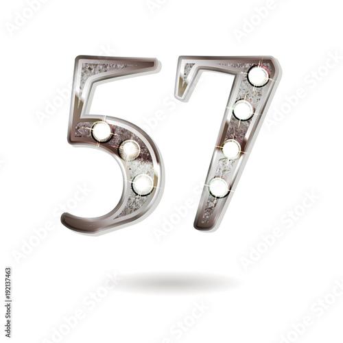 Fotografie, Obraz  57 years anniversary celebration design
