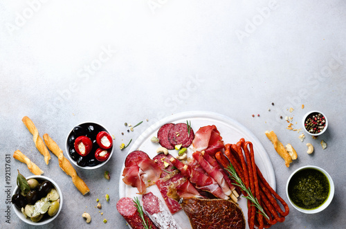 Photo Cold smoked meat plate
