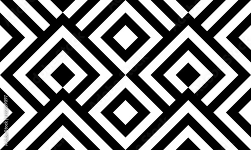 Stoffe zum Nähen Nahtlose Muster schwarz / weiß diagonalen Linien