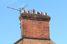 Chimney Stack And Tv Aerial On...