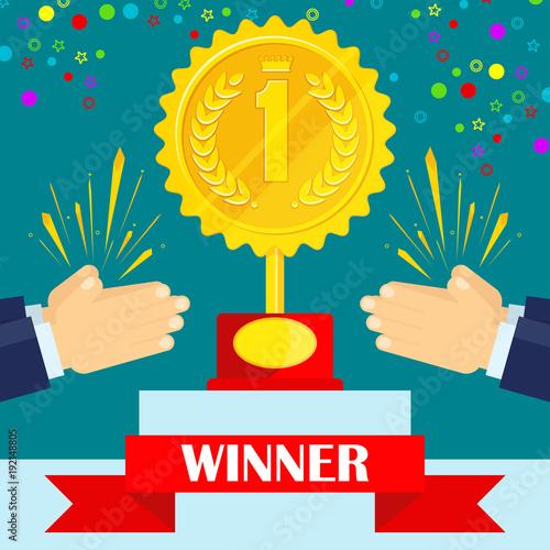 Applause for winner of competition Slika na platnu