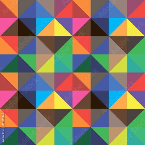 Keuken foto achterwand ZigZag Abstract background of color triangles, vector design