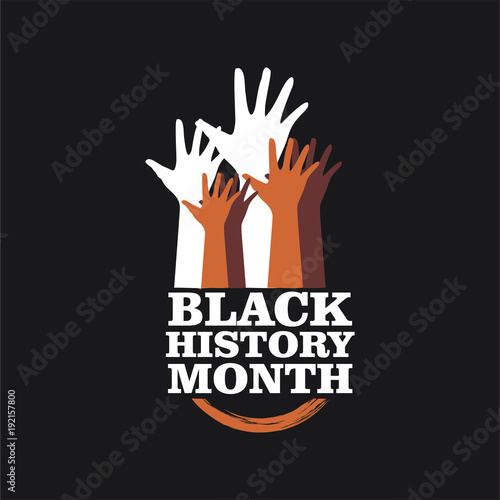 Foto  Black History Month Vector Template Design