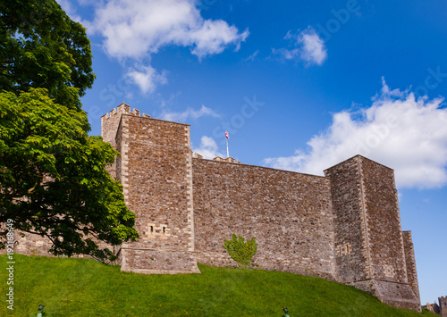Dover Castle Inner Bailey Wall Kent  Southern England UK Canvas Print