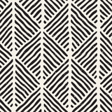 Seamless geometric doodle lines pattern in black and white. Adstract hand drawn retro texture. - 192174695