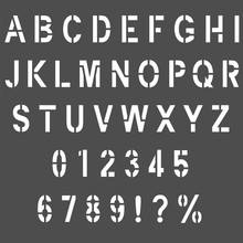 Stencil Type Letters