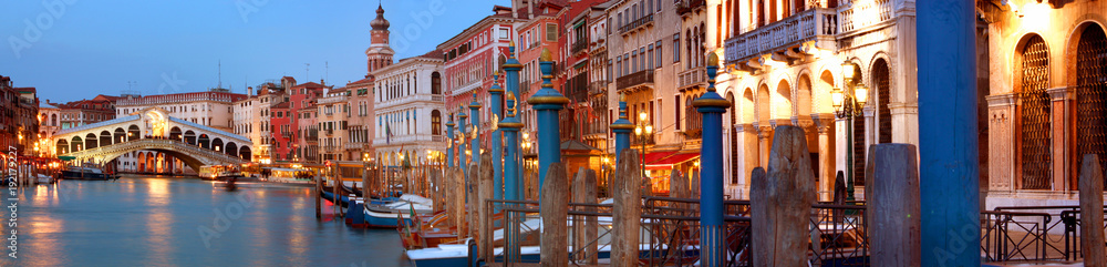 Fototapety, obrazy: Rialto Bridge and Grand Canal Venice, Italy