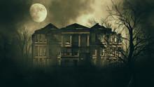 Haunted House In Creepy Night ...