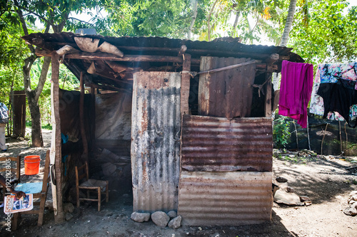 Fotografie, Obraz  A Shack Home in Haiti