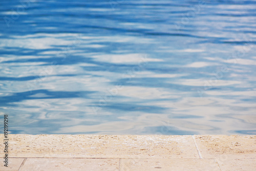 Fotomural Private poolside as abstract summer background