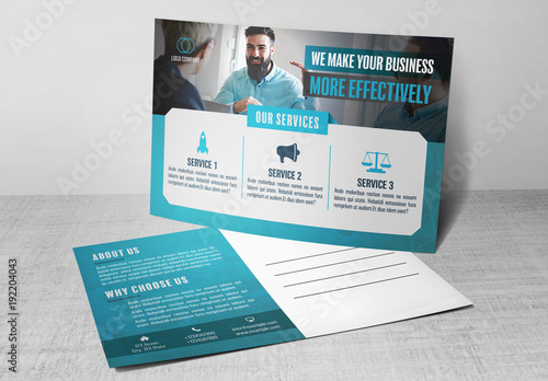 Business postcard layout with blue accents 1 buy this stock business postcard layout with blue accents 1 cheaphphosting Image collections