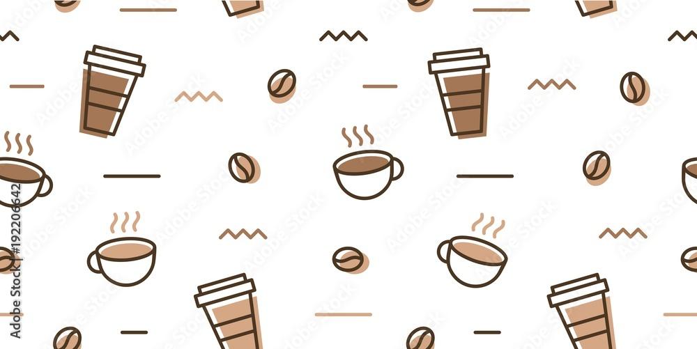 Ręcznie rysowane kubki na kawę <span>plik: #192206642   autor: angga</span>
