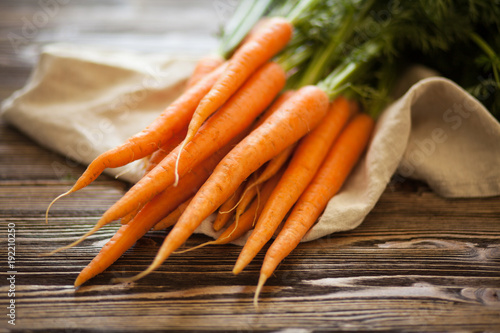 Fresh organic carrot Wallpaper Mural
