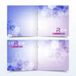 Business templates square brochure, magazine, leaflet , flyer, cover, booklet, annual report. Scientific concept for medical, technology, chemistry. Hexagonal molecule structure. Dna, atom, neurons.