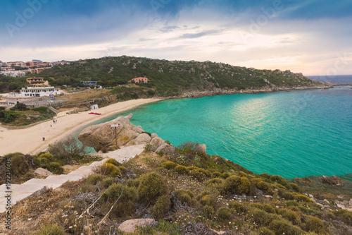 Fotografie, Obraz  waterside and Rena Bianca beach in Santa Teresa Gallura, Sardinia Italy