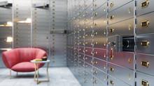 Bank Safe Storage 3d Illustrat...