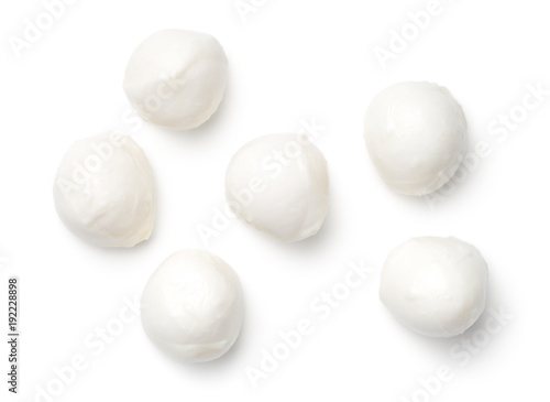 Fotografía Mozzarella Isolated on White Background