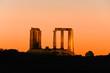 Leinwanddruck Bild Temple of Poseidon at Kap Sounion - greece