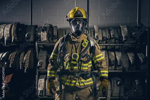Canvas Print Firefighter