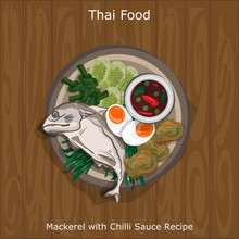 Thai Food Mackerel With Chilli...