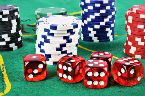 An concept Image of a Casino gambling плакат