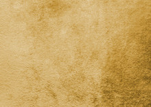 Gold Velvet Background Or Golden Yellow Velour Flannel Texture Made Of Cotton Or Wool With Soft Fluffy Velvety Satin Fabric Cloth Metallic Color Material