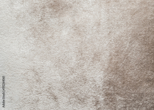 Fotografia  Beige velvet background or velour flannel texture made of cotton or wool with so