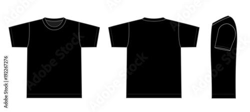 Cuadros en Lienzo  Tshirts illustration (black / side)