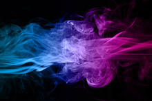 Abstract Blue And Pink Smoke O...