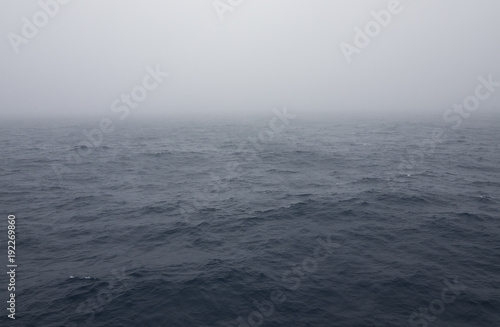Fog over the Southern Ocean near Antarctica