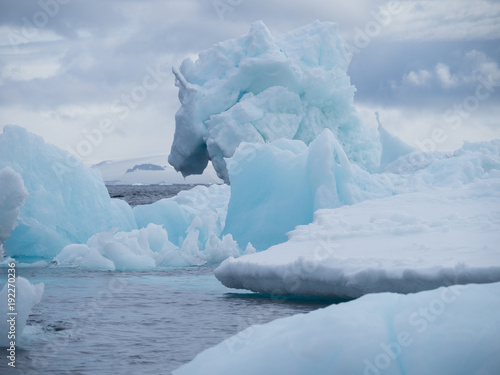 Foto op Aluminium Antarctica Light blue, light turquoise and gray Iceberg at Esperanza in Antarctica