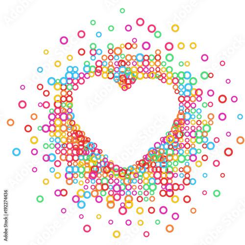 Foto op Aluminium Pixel Heart - paper color abstract illustration. Vector eps 10