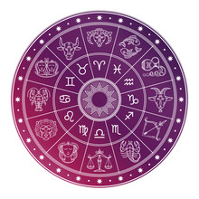 Bright And White Astrology Hor...
