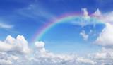 Fototapeta Tęcza - Beautiful Blue sky and cloud with rainbow.