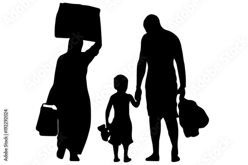Canvas-taulu Immigration - Refugees - vector
