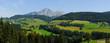 Panorama Landschaft oberhalb von Meran in Südtirol bei Hafling und Avelengo