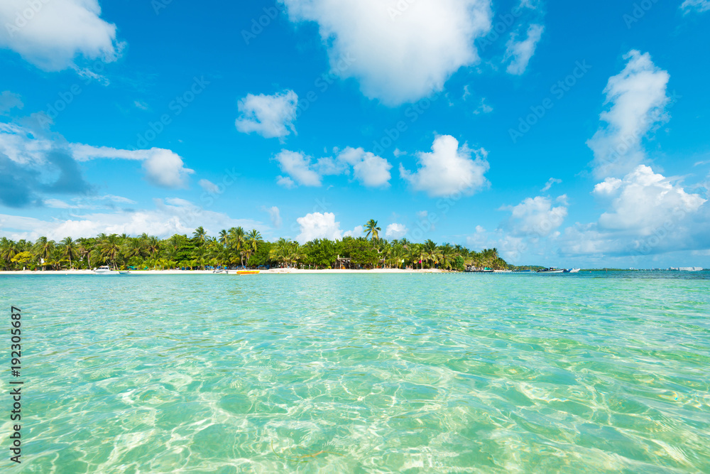 Fototapety, obrazy: The Sea of the Seven Colors, San Andres Island, Colombia, South America