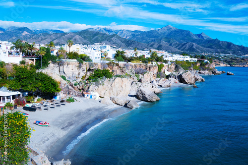 Photo  coast near resort town of Nerja in Spain